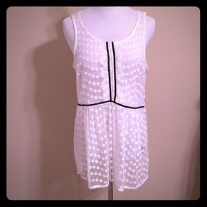 NWT LC Lauren Conrad long lace tank top